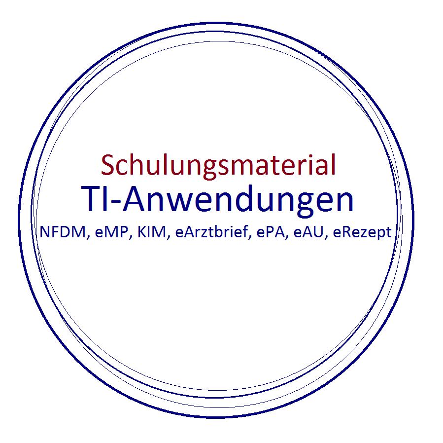 Schulungsmaterialien für die einzelnen TI-Anwendungen