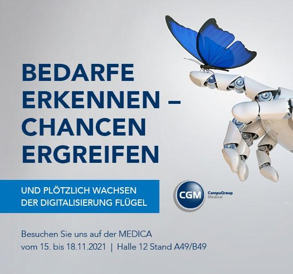 MEDICA in Düsseldorf 15. bis 18. November – Tickets sichern!